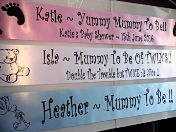 Personalised Baby Shower Sashes